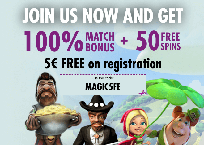 ★ Get your Welcome Package of 100% Match bonus + 50 free spins + C$5 free at Magical Spin