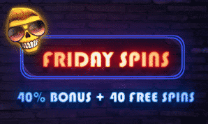 ★ 40% Match bonus + 40 Free spins at Magical Spin
