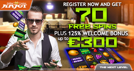 ★ 125% First Deposit Bonus up to C$300 at Kajot Casino