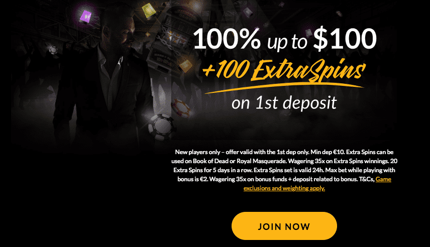 ★ First Deposit Bonus: 100% up to C$100 + 100 Free Spins at ShadowBet Casino