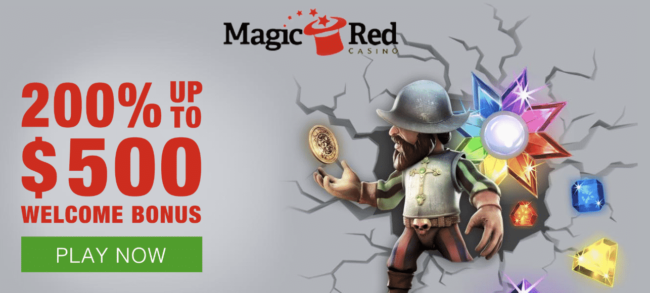 ★ 200% Welcome Bonus up to C$500 + 100 Free Spins at Magic Red Casino