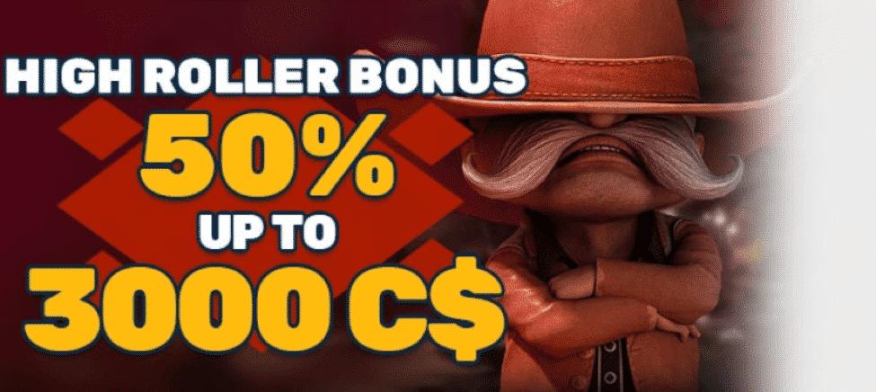 ★ Claim a 50% Highroller Bonus up to C$3000 at PlayAmo