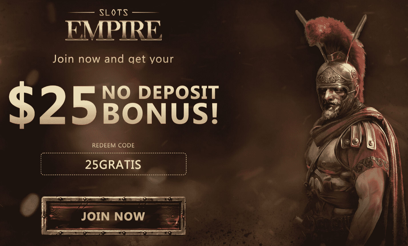 ★ Register and Grab C$25 No Deposit Bonus at Slots Empire