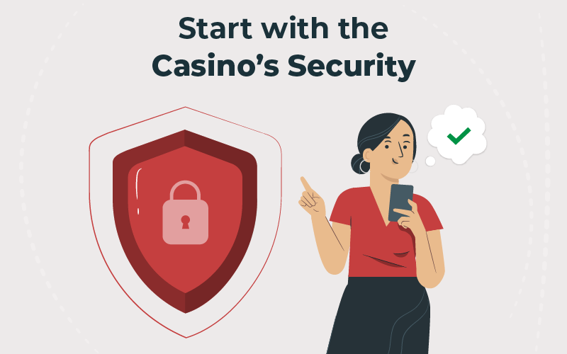 Start with the casino's security
