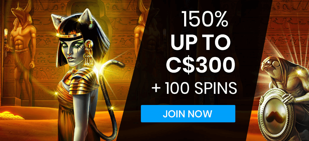 ★ Grab a 150% Welcome Package up to C$300 + 100 Free Spins on Egyptian at Mr Play Casino