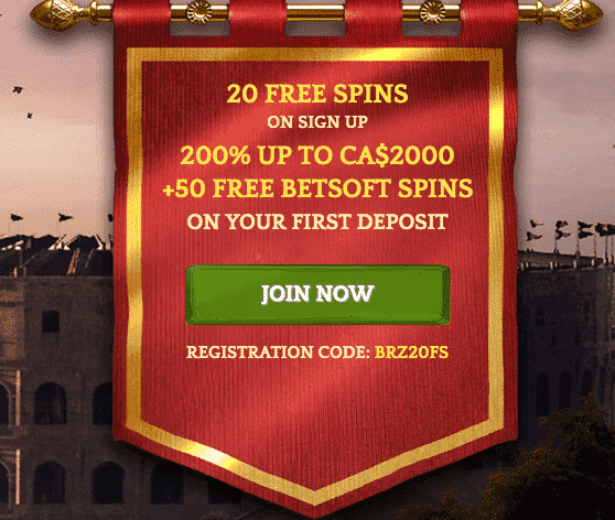 ★ First Deposit Bonus of 200% up to C$2000 + 50 Free Betsoft Spins at Bronze Casino