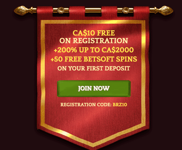 ★ C$10 Free Upon Registration + 200% Welcome Bonus up to C$2000 + 50 Free Betsoft Spins at Bronze Casino