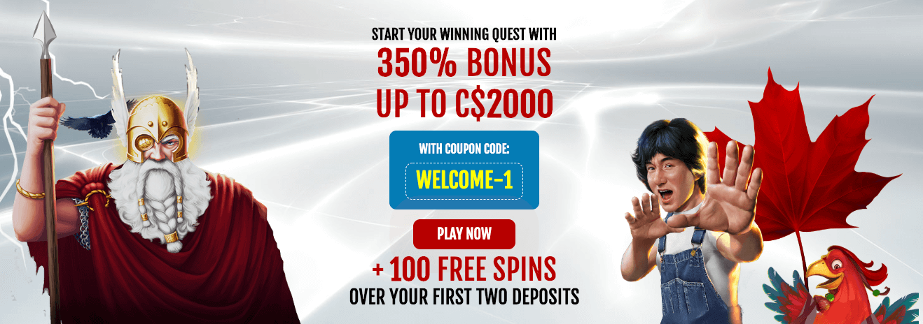 ★ 350% up to C$2000 Welcome Package + 100 Free Spins from Slots Hall