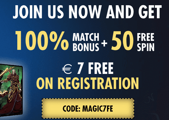 ★ C$7 Free on Registration + 100% Welcome Bonus up to C$1000 + 50 Free Spins at Magical Spin