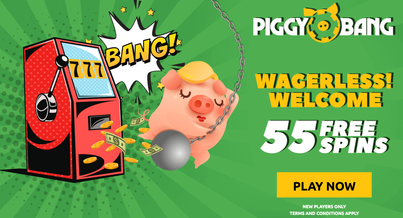 ★ 55 First Deposit Free Spins with No Wagering on Book of Dead at Piggy Bang
