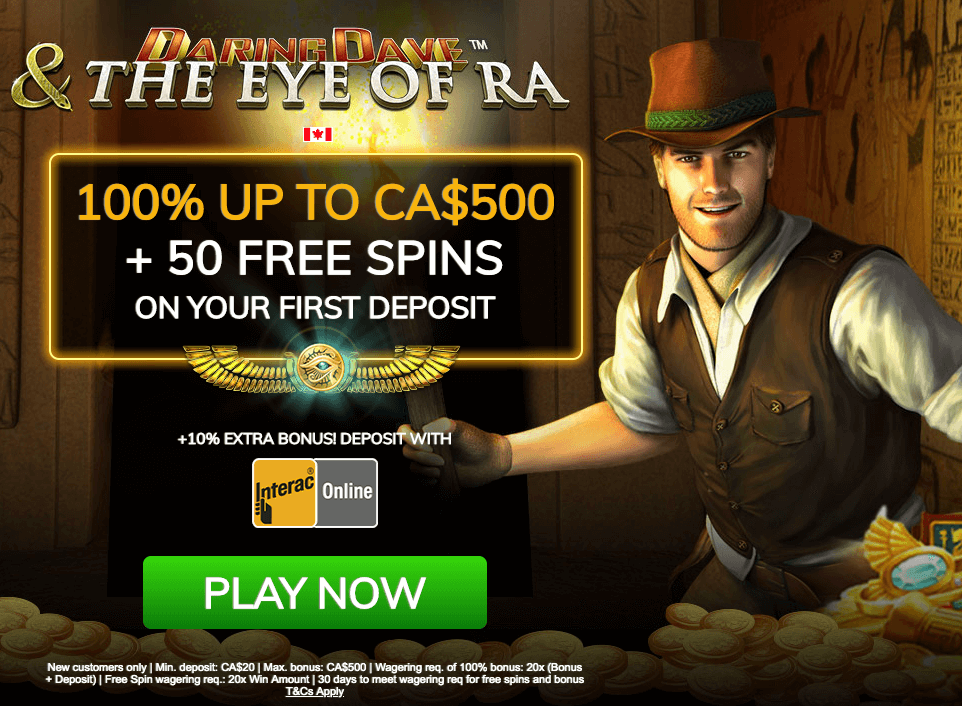 ★ Welcome Package: 100% up to C$500 + 50 Free Spins + 10% Interac Extra Bonus at Casino Las Vegas