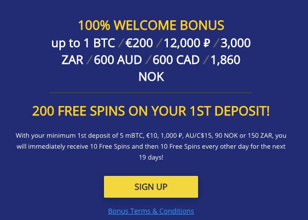 ★ 100% First Deposit Bonus up to C$600 + 200 Free Spins at BetChain