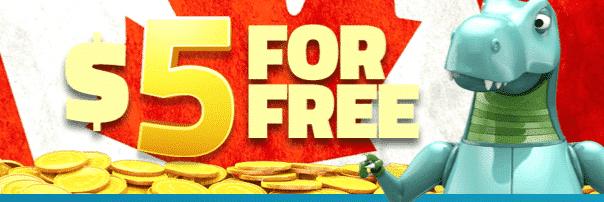 ★ C$5 No Deposit Bonus at LuckyDino