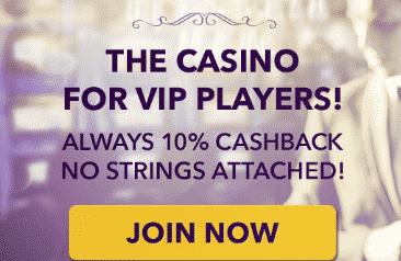 ★ Cashback Bonus of 10% at No Bonus Casino