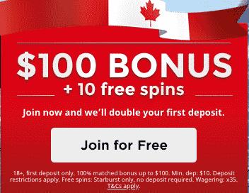 ★ 10 No Deposit Free Spins + C$100 Welcome Bonus at Royal Panda