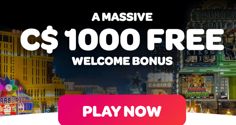 ★ Welcome Bonus of C$1000 at Spin Casino