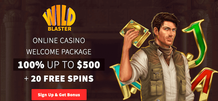★ 20 Free Spins on Registration + 100% Welcome Bonus up to C$500 at Wildblaster