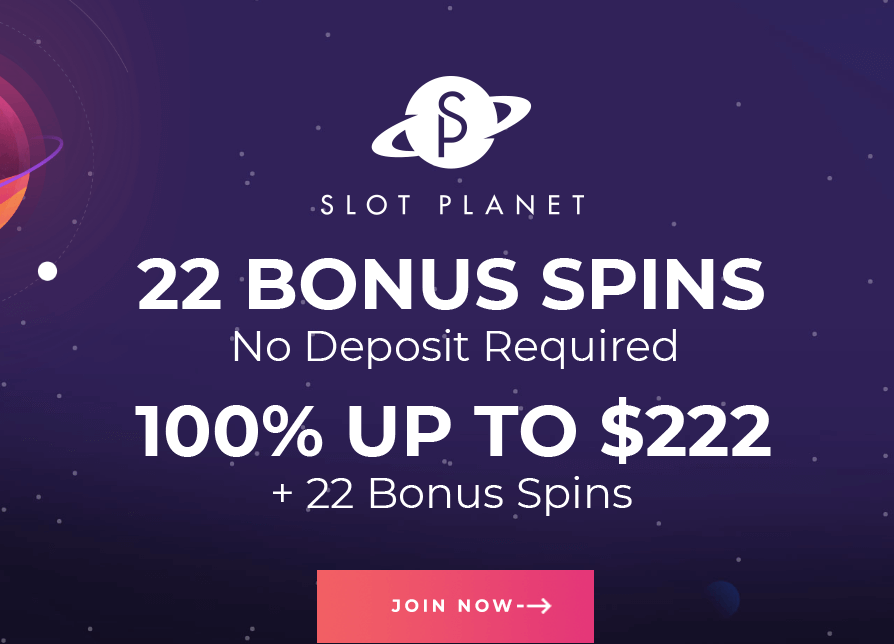 ★ 22 Sign Up Spins on Dead or Alive + 100% up to C$222 + 22 Free Spins Welcome Bonus at Slot Planet