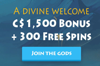 ★ C$1500 + 300 Free Spins Welcome Package at Casino Gods