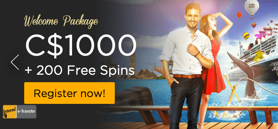 ★ Welcome Package: C$1000 + 200 Free Spins on Fire Joker at Casino Cruise