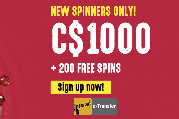 ★ Welcome Package of C$1000 + 200 Free Spins on Fire Joker at Spinit Casino