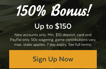 ★ 150% up to C$150 on First Deposit at 32Red