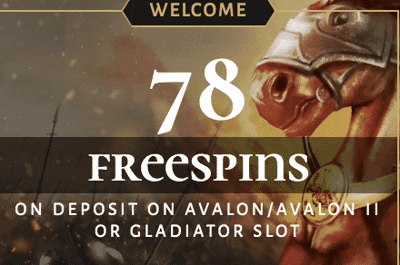 ★ 78 Free Spins on First Deposit Bonus at Avalon78