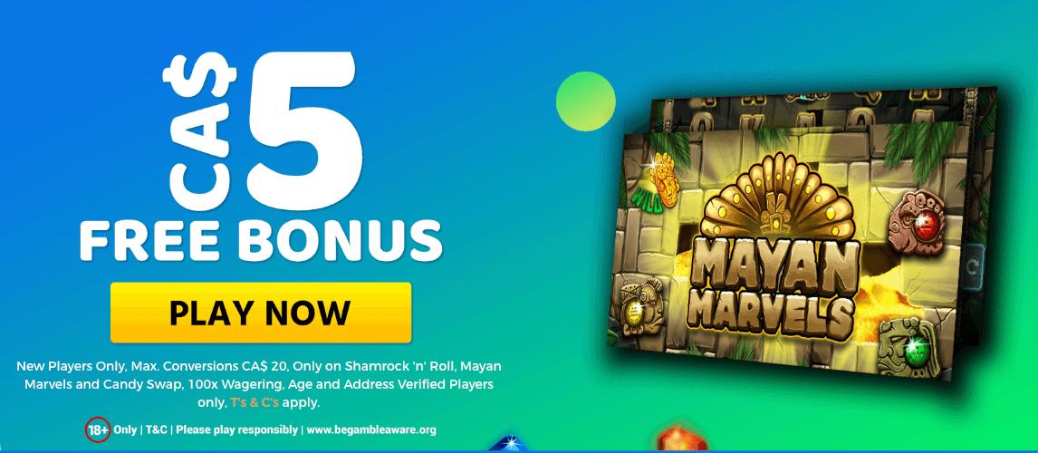 ★ C$5 No Deposit Bonus at Monster Casino
