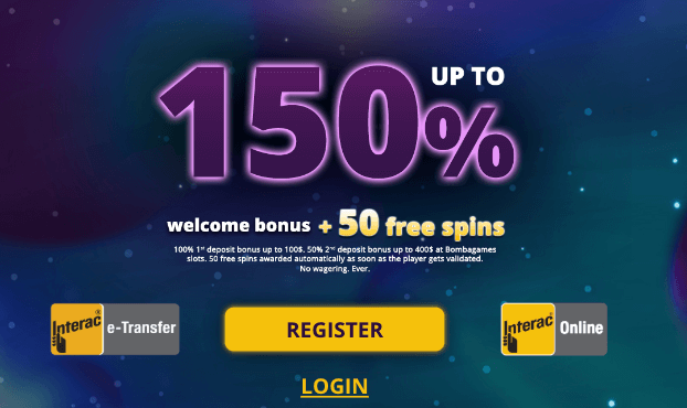 ★ 50 Free Spins on Cyclone of Jerez + 150% up to C$500 Welcome Package at 4starsgames