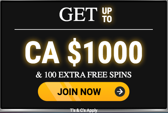 ★ C$1000 + 100 Free Spins Welcome Package at Gate777