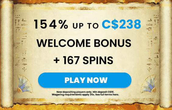 ★ 154% up to C$238 + 167 Free Spins Welcome Package at MrPlay