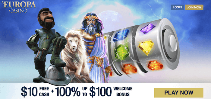 ★ C$10 No Deposit Bonus at Europa Casino