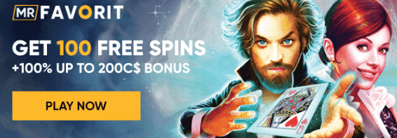 ★ 100% up to C$200 + 20 Free Spins on First Deposit at MrFavorit