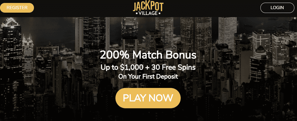 ★ First Deposit Bonus: 200% up to C$1000 and 30 Free Spins on Book of Dead at Jackpot Village