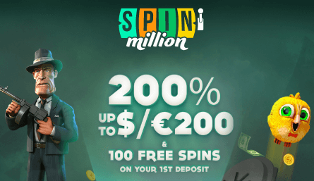 ★ 200% up to C$200 Welcome Bonus + 100 Free Spins on Rook's Revenge at Spin Million