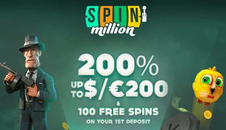 ★ 200% First Deposit Bonus up to C$200 + 100 Free Spins on Rook's Revenge at Spin Million