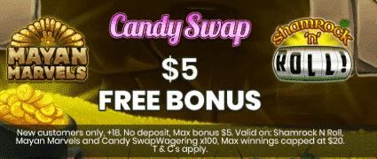 ★ C$5 No Deposit Bonus at WatchMySpin