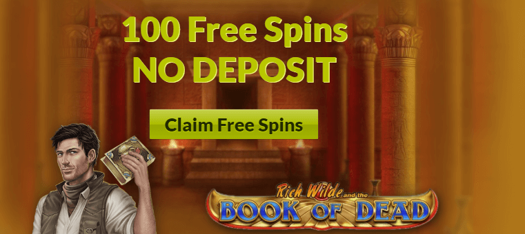★ 100 No Deposit Free Spins on Book of Dead at SlotJoint