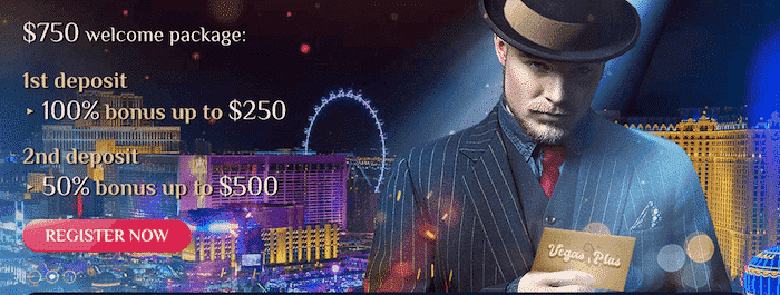 ★ Welcome Package up to C$750 + 50 Free Spins at VegasPlus Casino