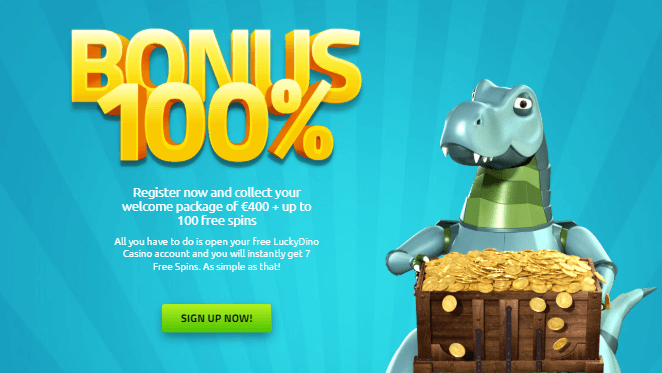 ★ Welcome Package up to C$400 + 100 Free Spins at LuckyDino Casino