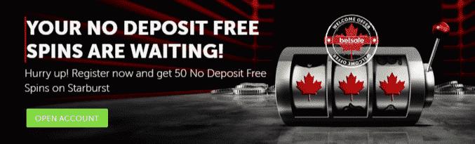 ★ 50 No Deposit Free Spins on Starburst at Betsafe