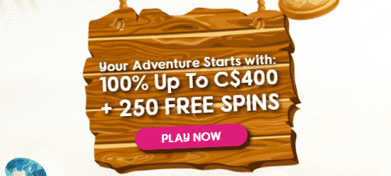 ★ 100% First Deposit Bonus up to C$400 + 250 Free Spins at Cashiopeia