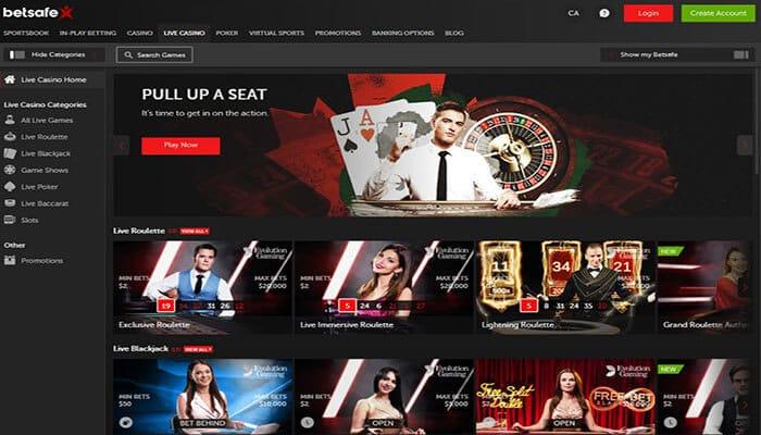 Betsafe Live casino Preview