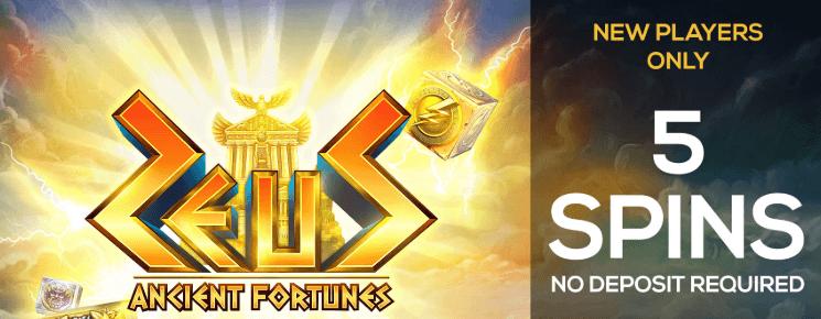 ★ 5 Spins No Deposit Bonus on Ancient Fortunes: Zeus at PWR.bet