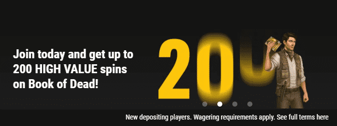 ★ First Deposit Bonus up to 200 Free Spins on Book of Dead at VIPs Casino