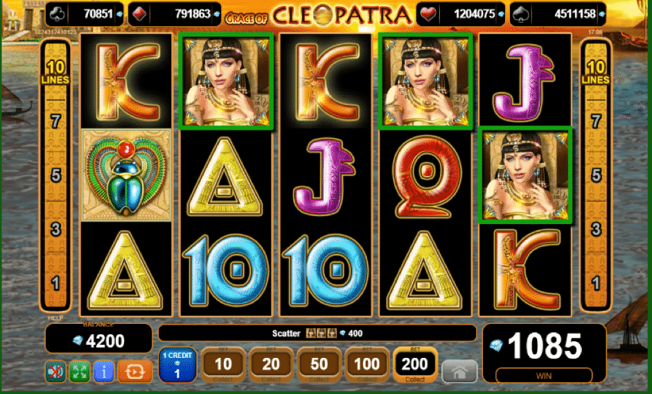 Grace Of Cleopatra Slot Machine