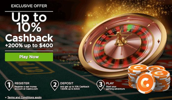 ★ 200% First Deposit Bonus up to C$400 on Roulette at Casino.com