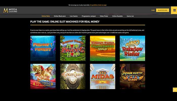 Mega Casino Online Slots Preview