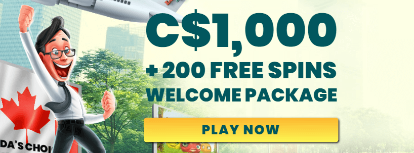 ★ Welcome Package of C$1000 + 200 Free Spins at Luckland