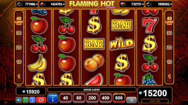 Flaming Hot Extreme Slot Machine